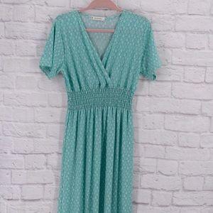 Gorgeous mint/turquoise/sea foam green maxi dress